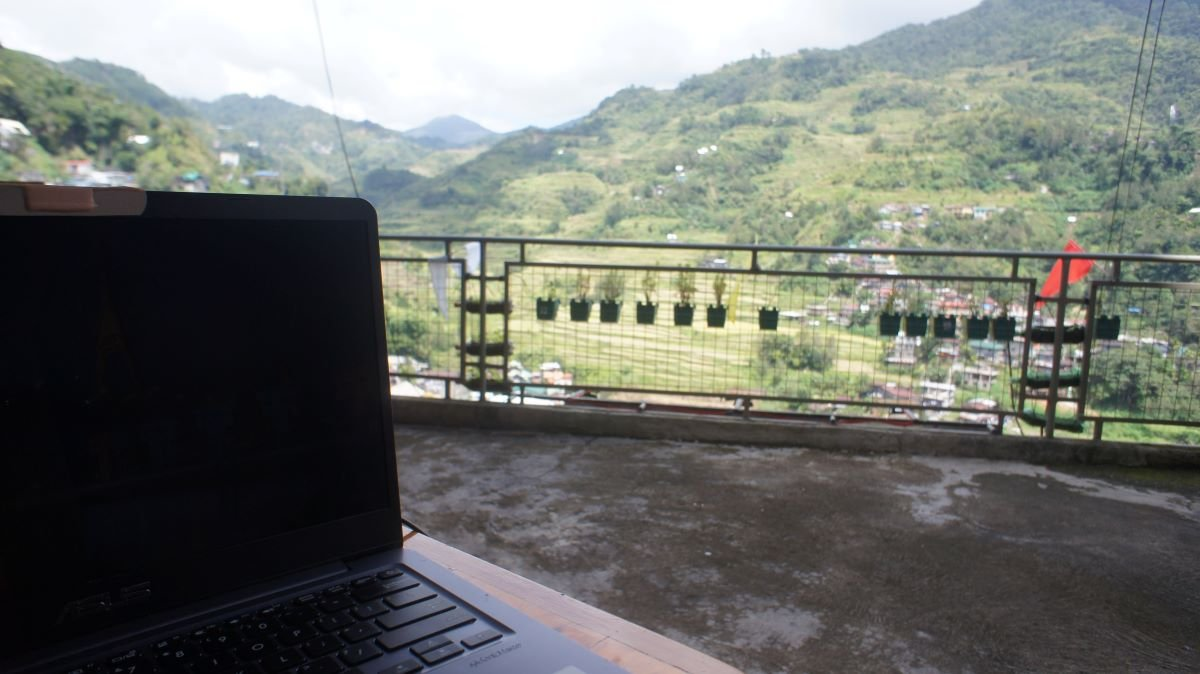 my temporary office with an amazing view!
