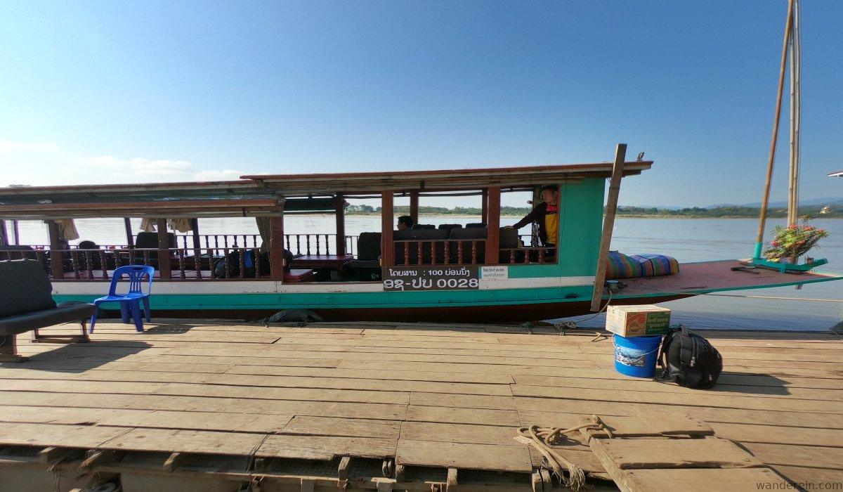 Slow boat from Huay Xai to Pakbeng