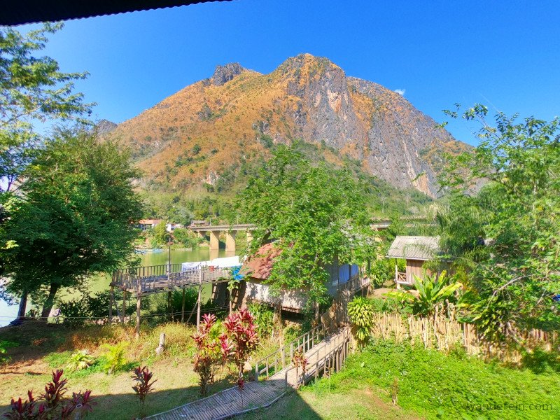 View from Bamboo Paradise Nong Khiaw