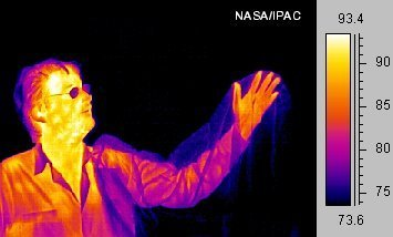 Thermographic image of a man