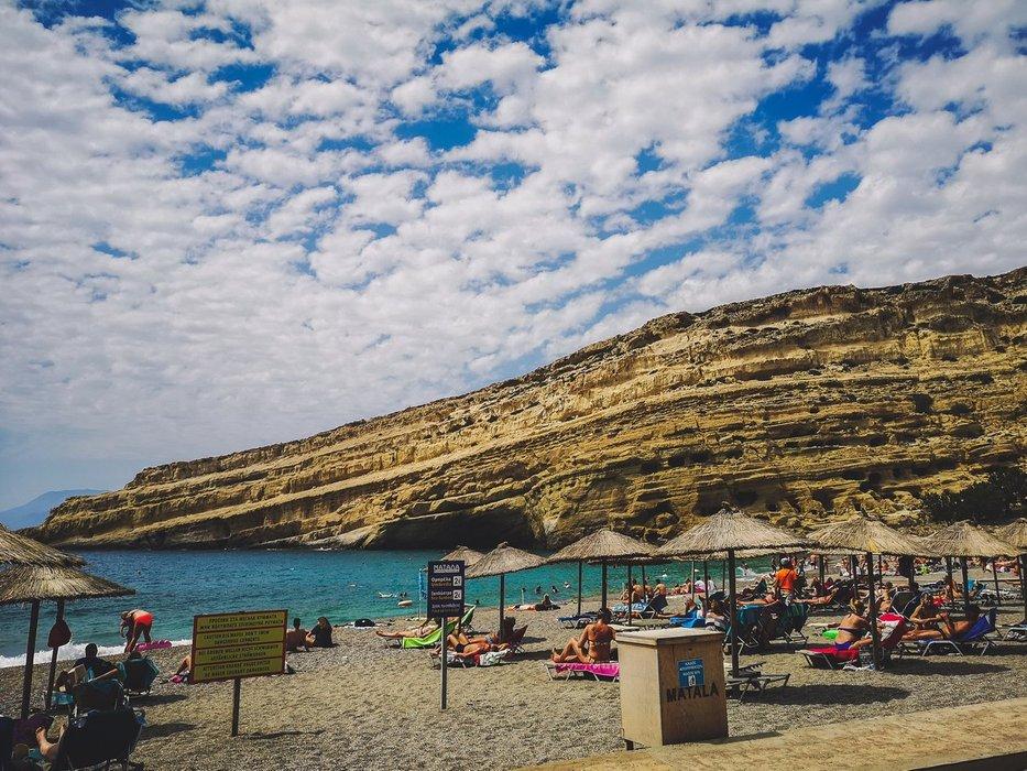 Matala Beach Cliff, Crete Island