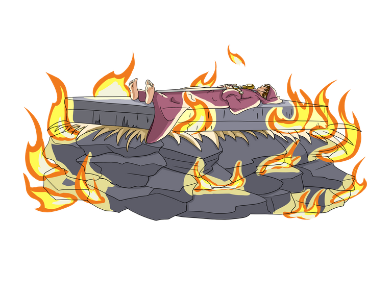 Fallen Warrior on a Stone pyre.png