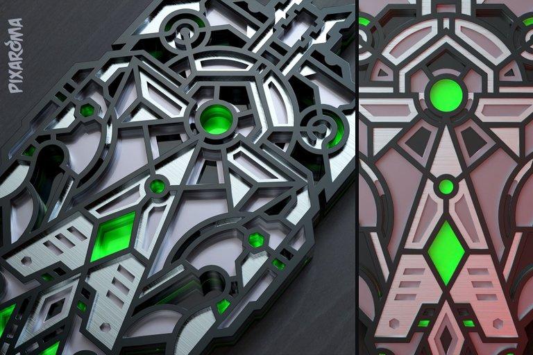2 Futuristic Wall Sculpture 3D Layered SVG Cut File Preview 2.jpg