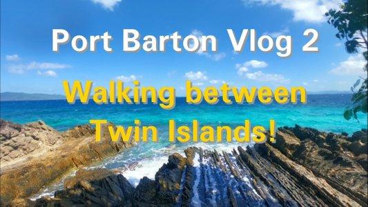 Port Barton Vlog 2: Literally Walking Between 2 Islands!