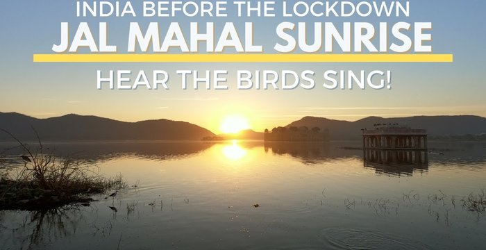 "Amazing Sunrise at Jal Mahal ""Water Palace"""