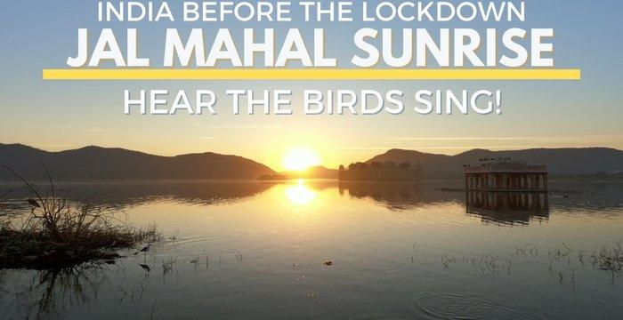"Amazing Sunrise at Jal Mahal ""Water Palace"""