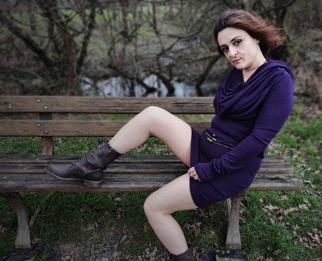 robe kali violette