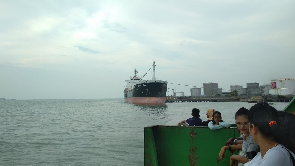View of Ocean Eagle cargo ship