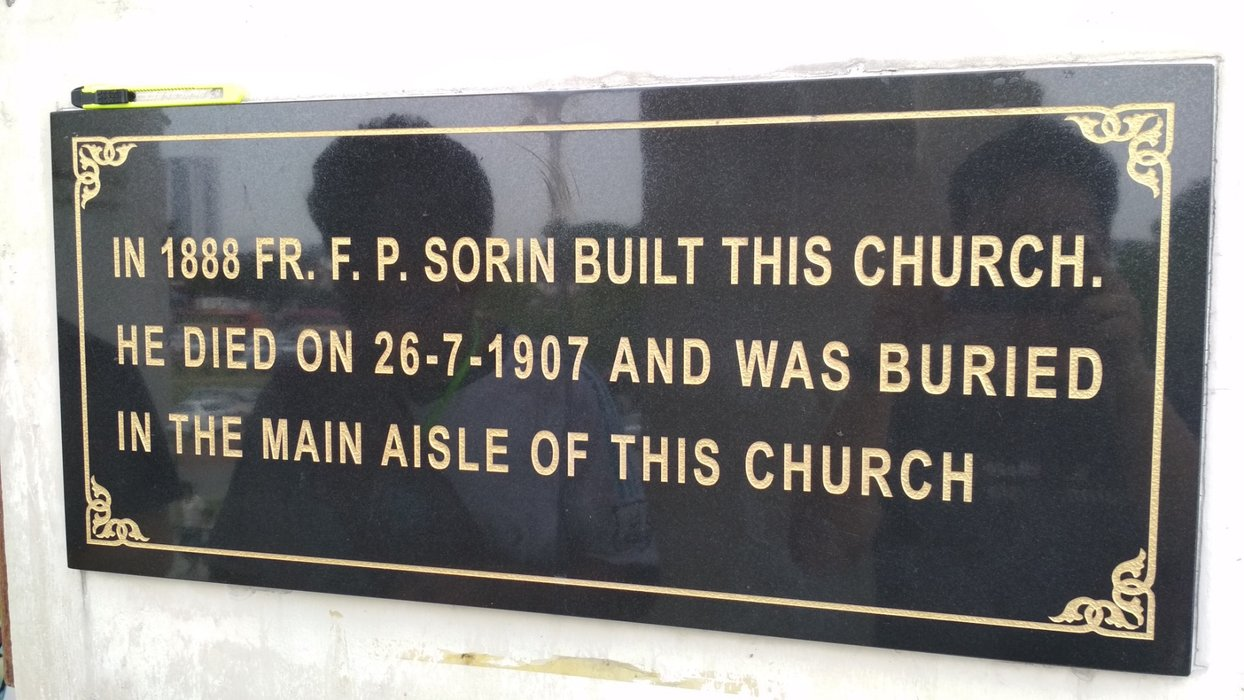 Apparently, priest buried in the church they built is a tradition? Sorry I'm not a Catholic, lemme read more online next year
