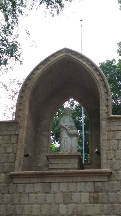 Sculpture of St.Anne and young Mary