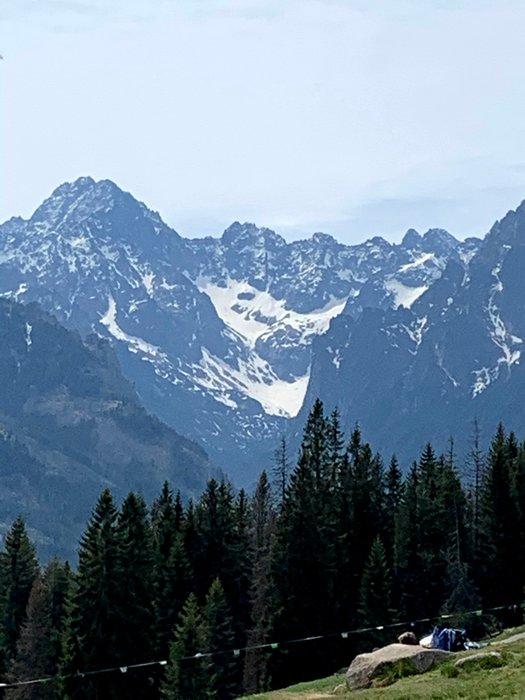 The Tatras viewed from Rusinowa Polana, Poland