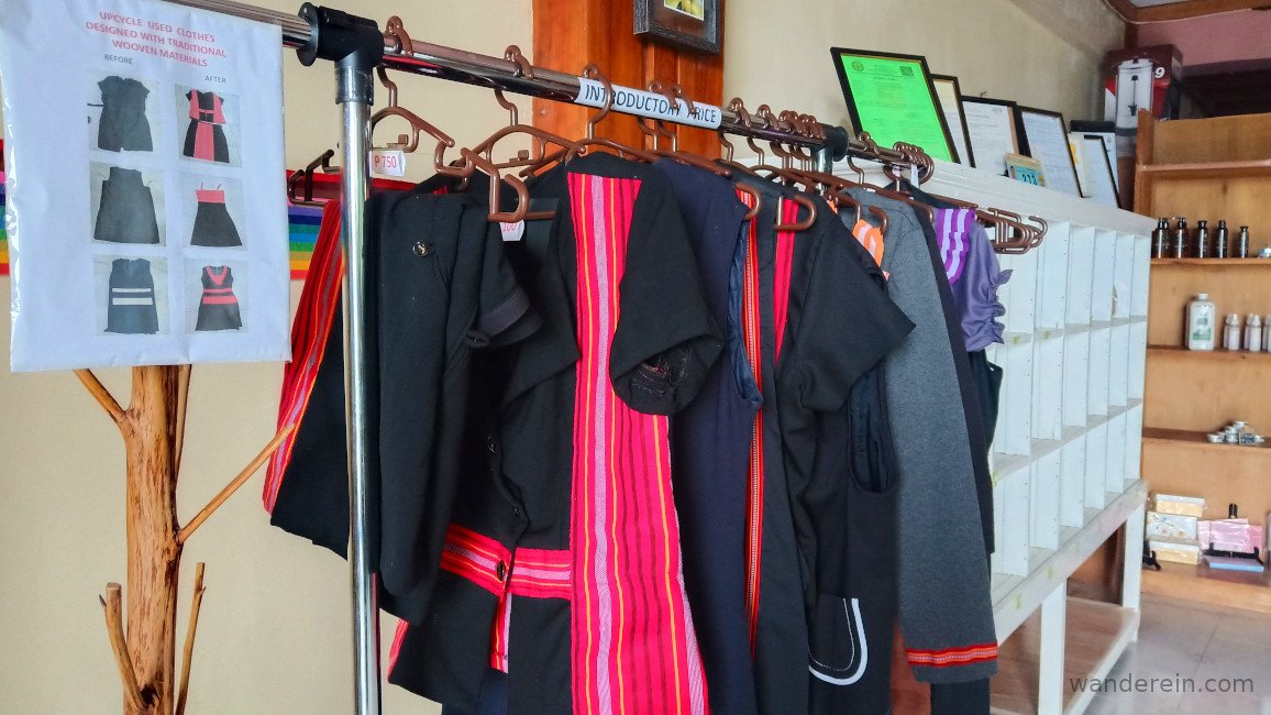 """""""Upcycled"""" clothes woven with traditional Ifugao fabric"""