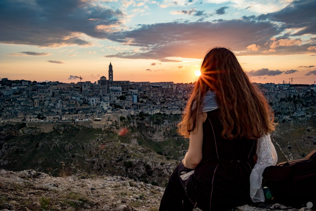 Matera just before sunset