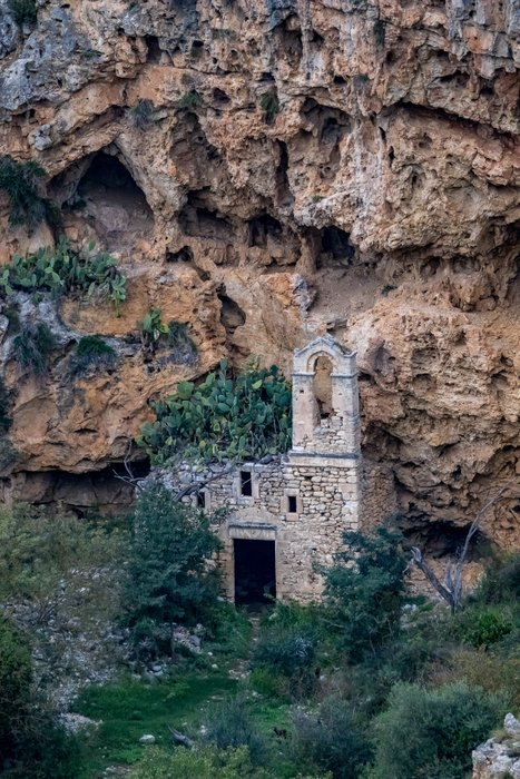 Ruins of old cave church