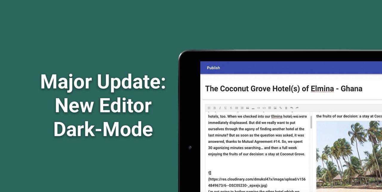 All New Editor & Dark-Mode