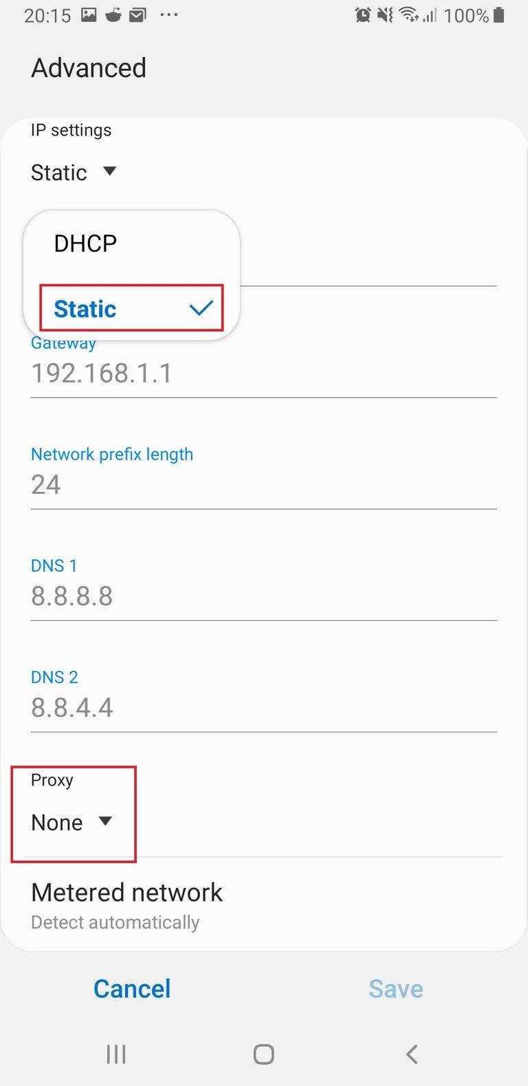 Figure 18. choose static then set proxy.jpg