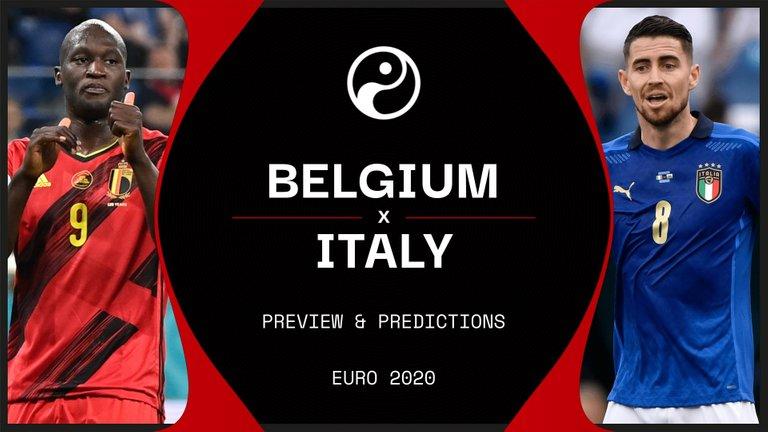 Euro 2020 Belgium vs Italy