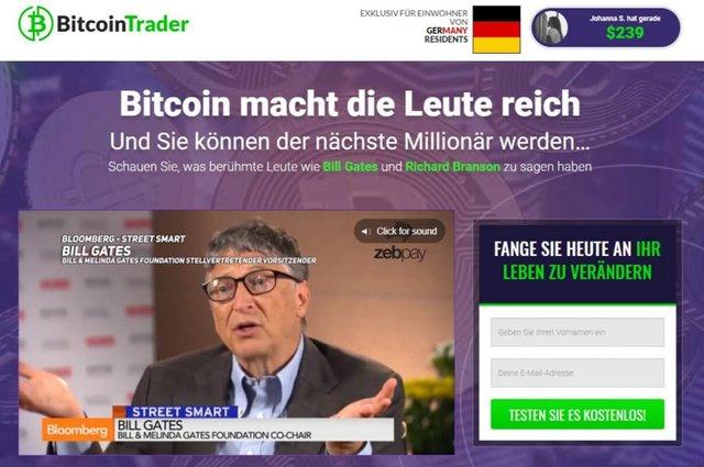 Bitcoin-Trader-startseite