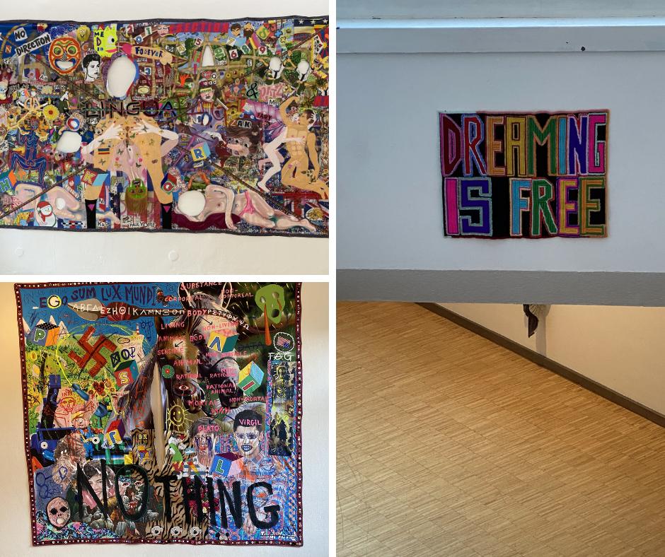 walhhangings of the fibre artist Paul Yore
