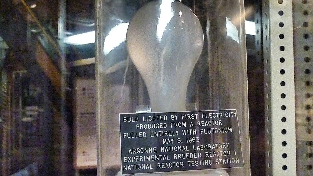 The historical light bulb.