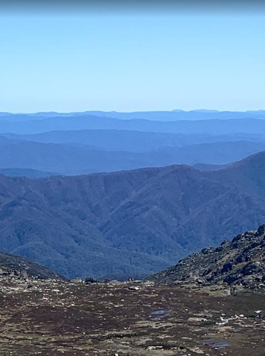 View from Mt Kosciuszko, Australia