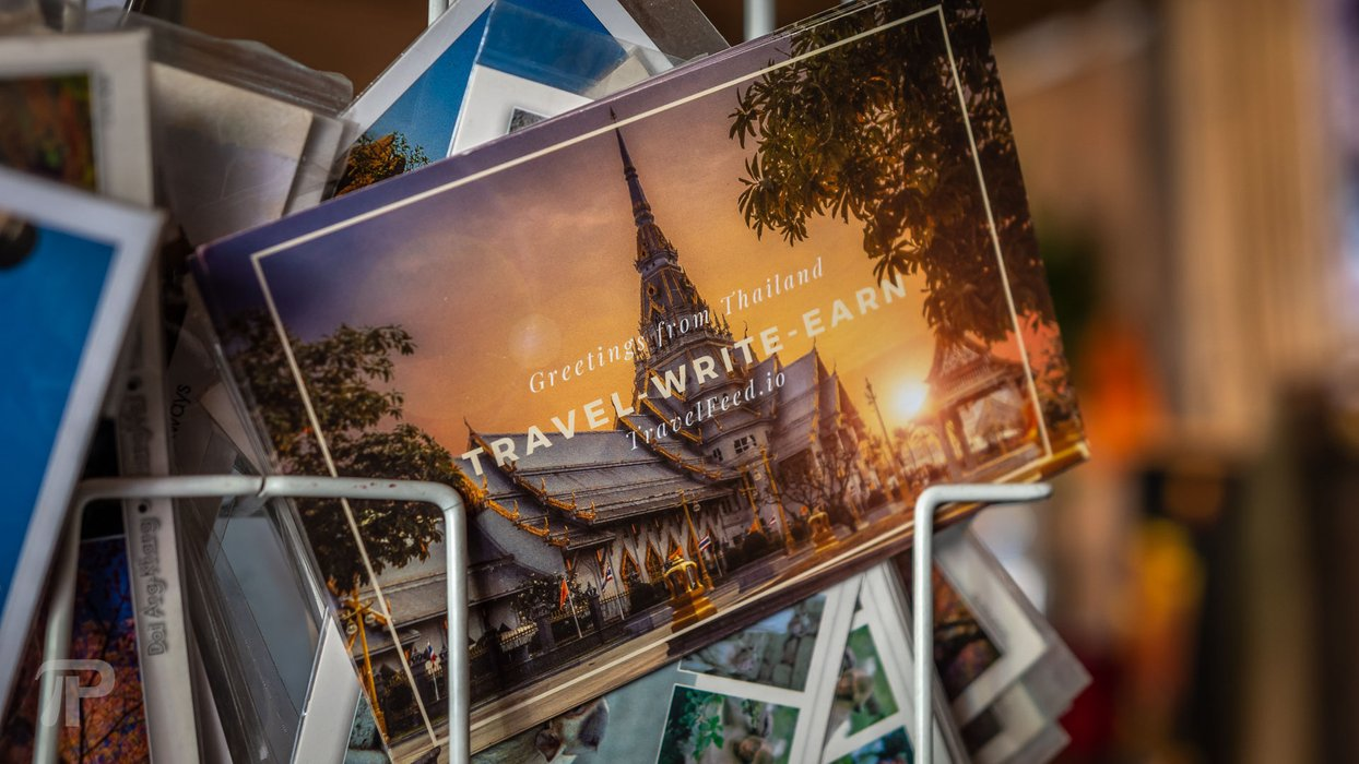 Left promotional TravelFeed post cards as far as Mae Salong