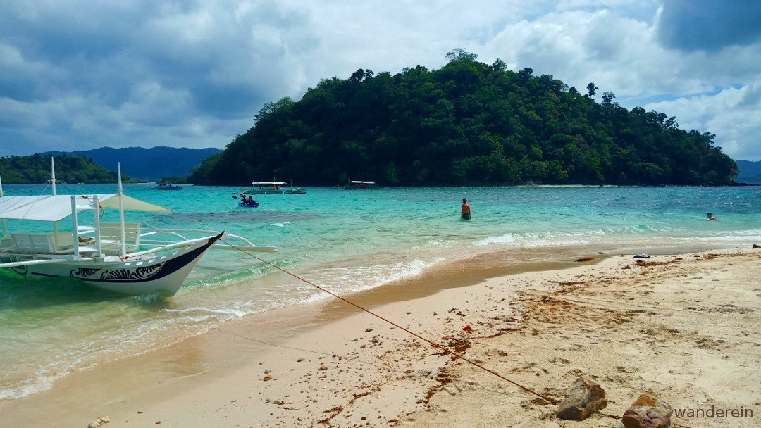 You have the beach for yourself... while it's not yet as popular as El Nido