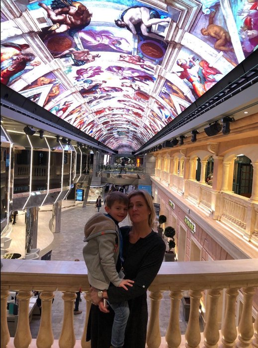 # the MERAVIGLIA is the ship with the led ceiling all the way in the main corridor of the ship, A~MA~ZING !