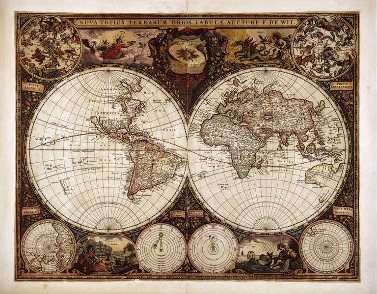 World Map (mentioning Tartaria and the Tartaric ocean) by Frederik de Wit