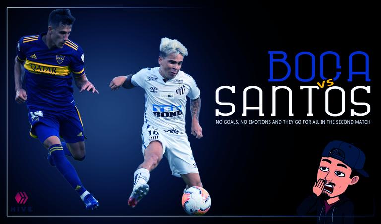 Boca vs Santos  sin goles, sin emociones y a por todas en la vuelta  HIVE ENG.png