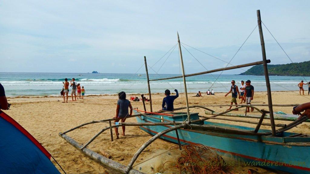 Surf waves of Nagtabon beach