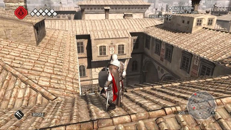 Ezio on the roofs
