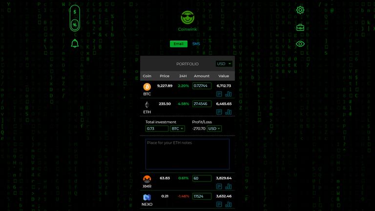 coinwink-matrix-theme-portfolio-view.png
