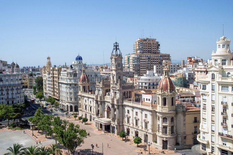 The New Plaza Del Ayuntamiento - Valencia, Spain