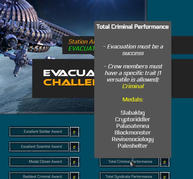 Each objective rewarded its participants!
