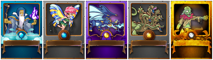 Alric Stormbringer, Enchanted Pixie, Lightning Dragon, Hydra e Animated Corpse gold