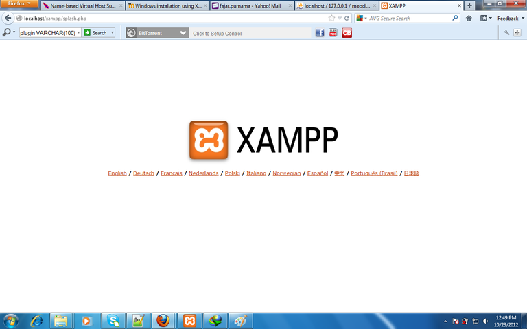 Figure 2. XAMPP Localhost frontpage.png