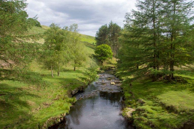 Derwent river before the dams