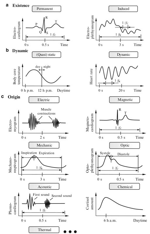 Biosignals in sinusoid form