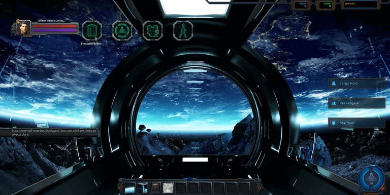 EXODE game screen during evacuation!