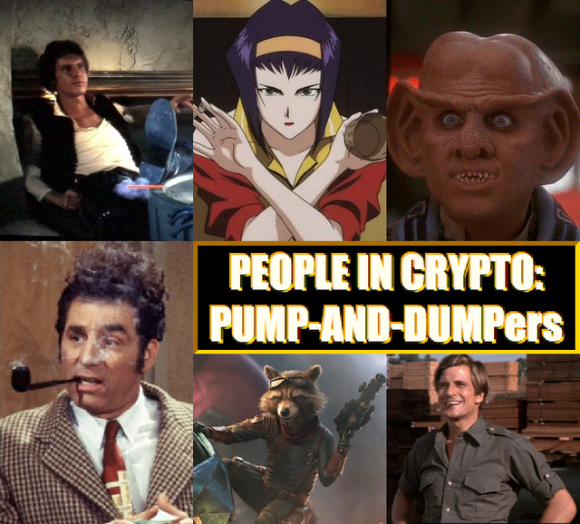 Collage of famous fictional characters known as greedy schemers