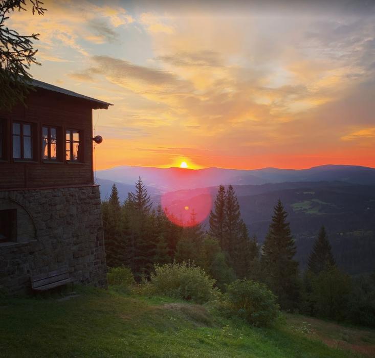 Sunrise at Stożek, Poland