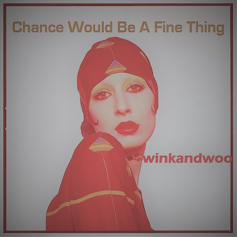 chance would be a fine thing by winkandwoo