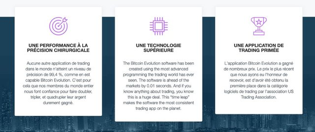 Bitcoin Evolution avantage