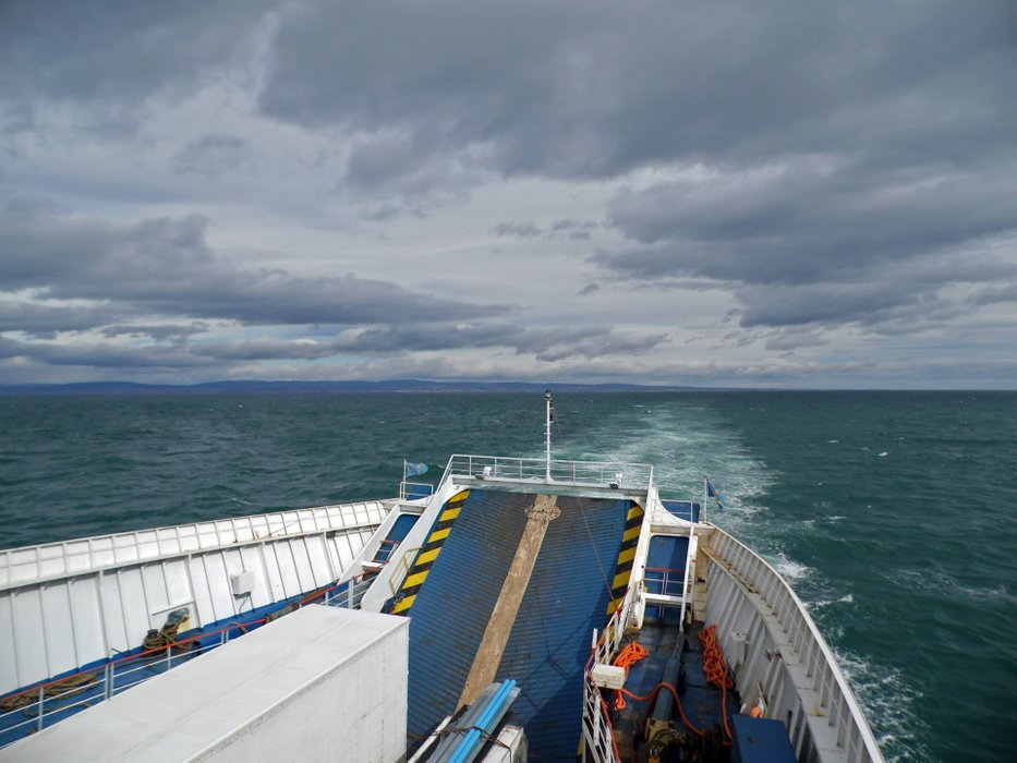 Crossing the Strait of Magellan