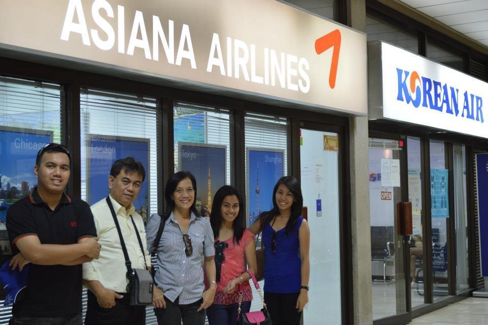 My family and I at the Mactan-Cebu International Airport