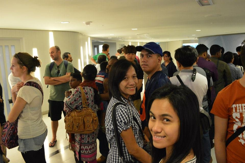 Falling in line to explore inside the Petronas Twin Towers