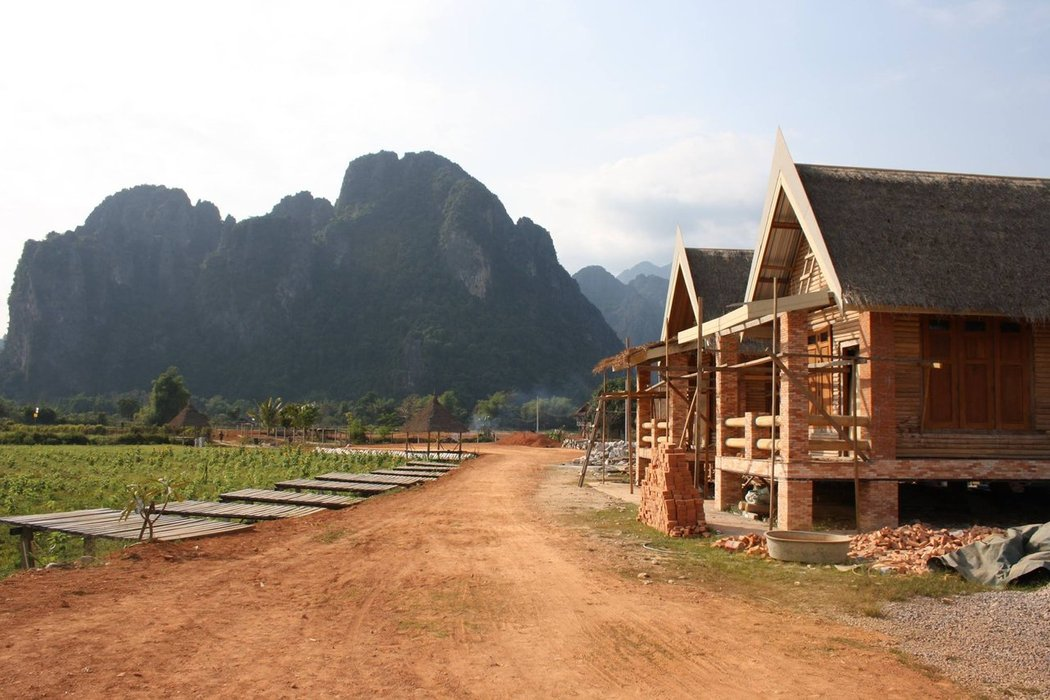 Located about halfway between Vientiane and Luang Prabang is Vang Vieng, a small town on the Nam Song river surrounded by karst limestone mountains.