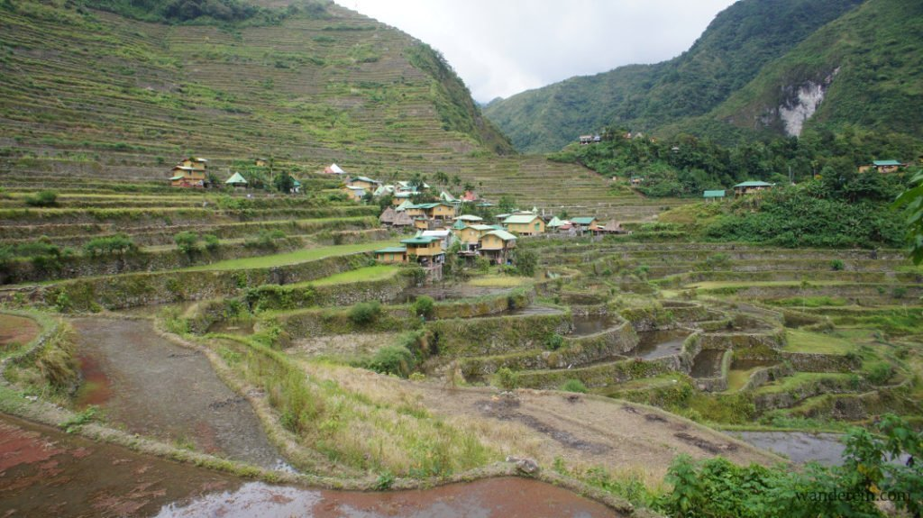 The village in the middle of Batad's rice terraces