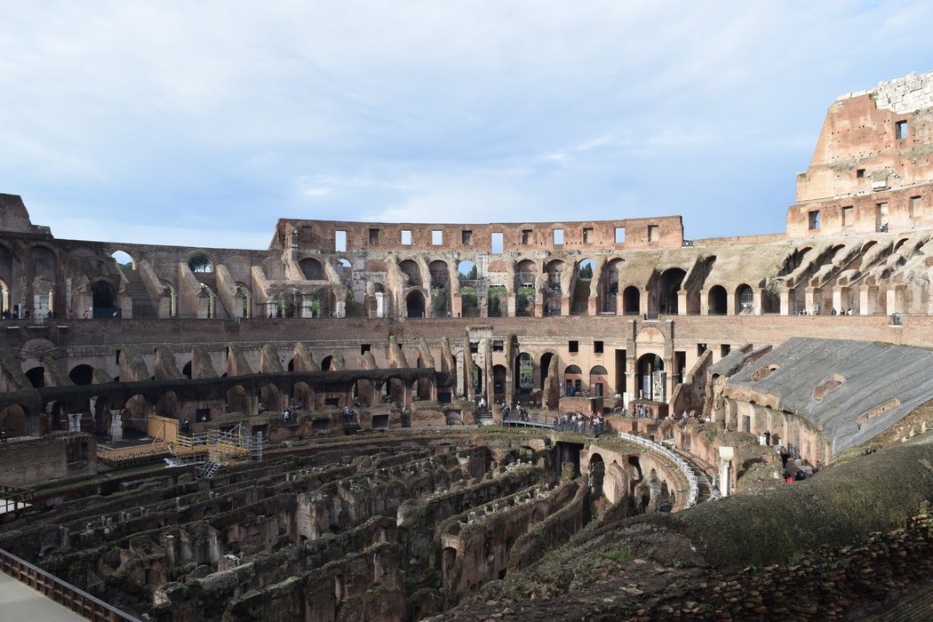 View from the upper level of the Colosseum
